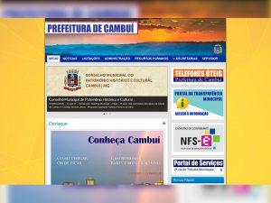 Prefeitura Municipal de Cambuí Minas Gerais Portfólio Guarda Site
