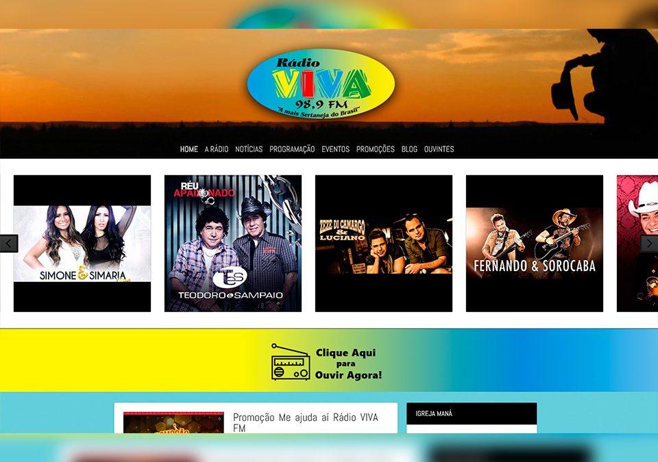 Rádio VIVA FM Portfólio Guarda Site