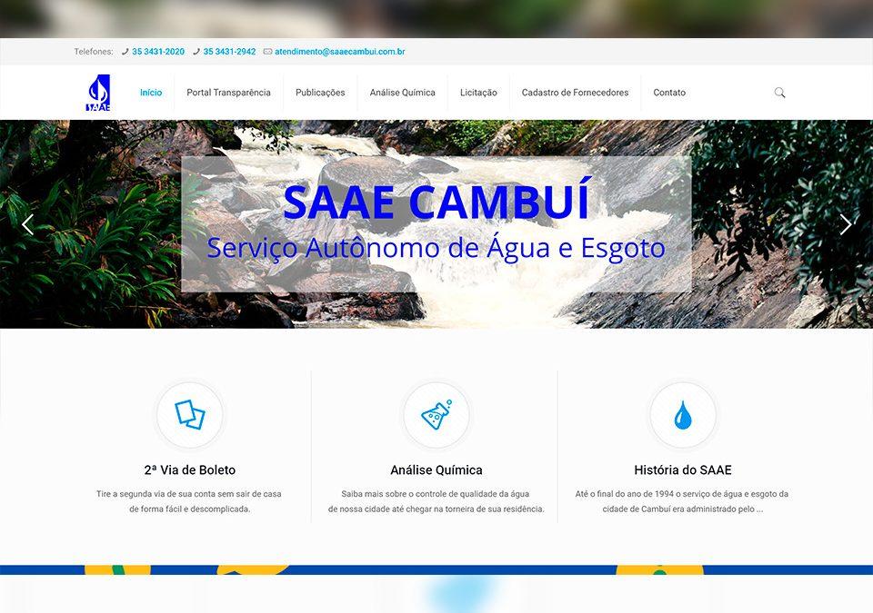 SAAE Cambuí Portfólio Guarda Site
