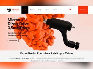 Nunez Machine Máquina de Tatuar Rotativa Portfólio Guarda Site